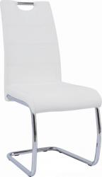 Pohupovací jídelní židle ABIRA NEW bílá ekokůže/chrom