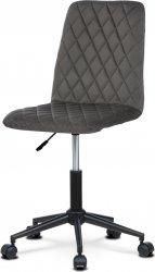 Dětská židle KA-T901 GREY4, šedá/černý kov
