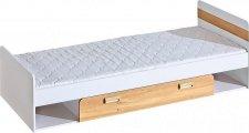 Dětská postel LIMO L13 s úložným prostorem bílá/dub nash