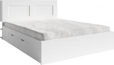 Postel RAMIAK 160x200 s úložným prostorem, bílá