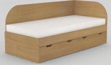 Dětská postel REA GARY 90x200 s úložným prostorem, pravá, BUK