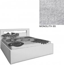 Čalouněná postel AVA LERYN 180x200, s úložným prostorem a LED osvětlením, MONOLITH 85