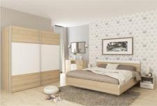 Ložnice GABRIELA dub sonoma/bílá (postel 180)