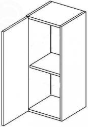 W30L horní skříňka jednodvéřová NORA de LUX hruška