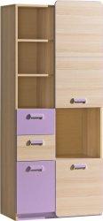 LIMO L7 kombinovaná skříň fialová