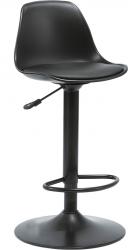 Barová židle DOBBY, plast/kov, černá