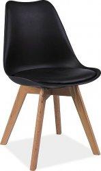 Jídelní židle KRIS černá/buk