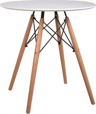Jídelní stůl, dřevo + MDF, bílá, GAMIN 60