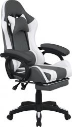Kancelářské herní křeslo JOVELA s RGB podsvícením, černá/bílá
