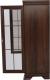 Vitrína KORA KK6 s výklopnou barovou skříňkou, samoa king