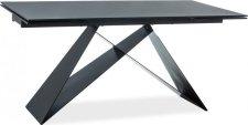 Jídelní stůl rozkládací WESTIN II černý kámen/černý mat