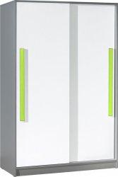 Šatní skříň GYT 13 antracit/bílá/zelená
