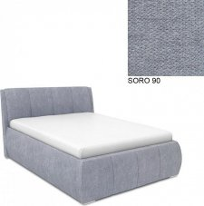 Čalouněná postel AVA EAMON UP 160x200, s úložným prostorem, SORO 90