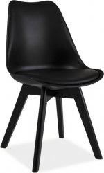 Plastová jídelní židle KRIS II černá/černá