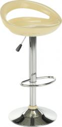 Barová židle  DONGO NOVE, chrom/béžový plast