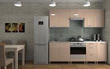 Kuchyňská linka Dalliance KRF 220 cm, capucino lesk