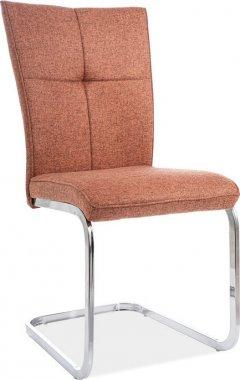 Pohupovací jídelní židle H-190 cihlově červená/chróm