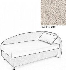 Čalouněná postel AVA NAVI, s úložným prostorem, 120x200, pravá, PACIFIC 205