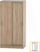Šatní skříň BETTY 4, 2-dvéřová, dub sonoma, BE04-002-00