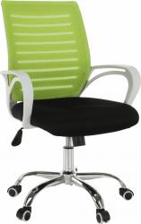 Kancelářská židle OZELA, zelená/černá/bílá/chrom