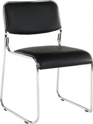 Konferenční židle BULUT stohovatelná, černá ekokůže