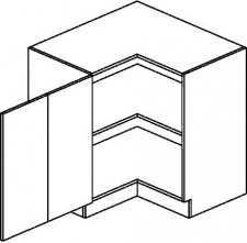 DRPL d. skříňka rohová NORA 90x90 cm hruška