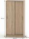 Šatní skříň BETTY 4, 2-dvéřová, dub sonoma, BE04-003-00