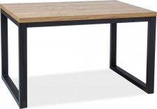 Jídelní stůl LORAS II 120x80 dub masiv/černá