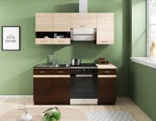 Kuchyňská linka Largo 180 cm, dub sonoma tmavá