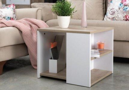 Konferenční stolek SAID CT7 03.237, dub kraft šedý/bílá
