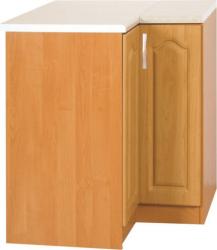 Kuchyňská rohová spodní skříňka LORA MDF NEW KLASIK S90x90, pravá, olše