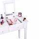Toaletní stolek, toaletka, bílá, LUZIA