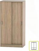 Šatní skříň BETTY 4, 2-dvéřová, dub sonoma, BE04-001-00