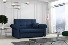 Rozkládací křeslo Vivian Silver II s úložným prostorem, tmavě modrá