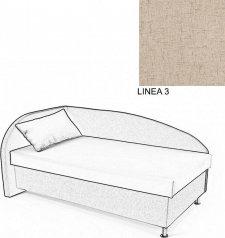 Čalouněná postel AVA NAVI, s úložným prostorem, 120x200, levá, LINEA 3