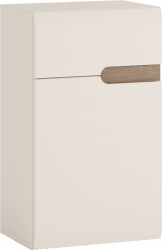 Dolní skříňka 1D1S, bílá extra vysoký lesk HG / dub sonoma truflový, levá,  LYNATET TYP 156