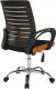 Kancelářská židle  LIZBON NEW, oranžovo/černá