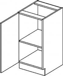 D40L dolní skříňka jednodvéřová MERCURY Zebra