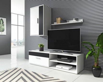 Obývací stěna Togo 2 bílá/černá