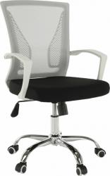 Kancelářská židle IZOLDA, šedá/černá/bílá/chrom