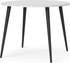 Jídelní stůl Retro 386 bílá/černá