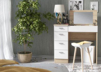 Pracovní/toaletní stolek CHARM dub sonoma/bílá