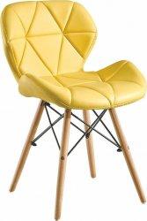 Designová jídelní židle BOSSE, žlutá