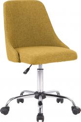 Designová kancelářská židle EDIZ, žlutá/chrom