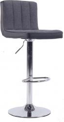 Barová židle HILDA, chrom/šedá