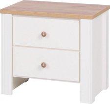 Noční stolek Bacardi R17 dub zlatý/crem