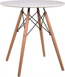 Kulatý jídelní stůl Gamin New 60, bílá/buk