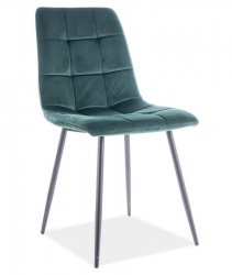 Jídelní židle MILA velvet zelená/černý kov