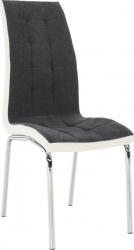 Jídelní židle GERDA NEW, tmavě šedá/chrom