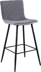Barová židle TORANA, světlešedá/černý kov